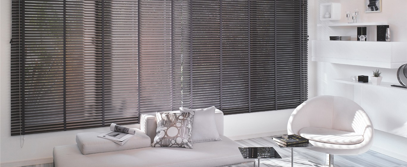 modern interior with window blinds