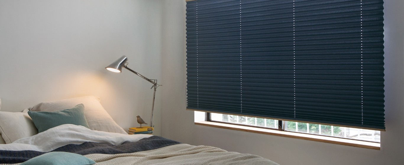 bedroom interior design with window blinds